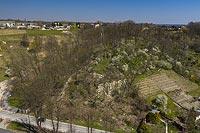 Zamek w Pińczowie - Zdjęcie lotnicze, fot. ZeroJeden, IV 2021