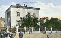 Piotrków Trybunalski - Zamek w Piotrkowie na pocztówce z około 1910 roku