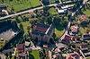 Zamek w Płakowicach - Widok z lotu ptaka od północnego-wschodu, fot. ZeroJeden, X 2013