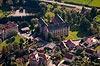 Zamek w Płakowicach - Widok z lotu ptaka od północnego-zachodu, fot. ZeroJeden, X 2013