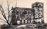 Zamek w Płotach - Zamek w Płotach w 1917 roku