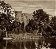 Zamek w Płotach - Zamek na zdjęciu z 1938 roku