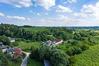 Zamek w Podgrodziu - zdjęcie lotnicze, fot. ZeroJeden, VII 2020