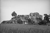 Zamek Rząsiny w Podskalu - Ruiny zamku w Podskalu około 1915 roku
