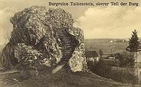 Zamek Rząsiny w Podskalu - Pozostałości zamku w Podskalu w okresie międzywojennym
