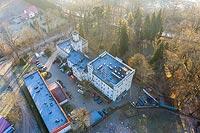 Zamek w Podzamku - Zdjęcie z lotu ptaka, fot. ZeroJeden, XII 2020