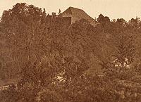 Pokrzywno - Zamek na zdjęciu Henryka Gąsiorowskiego z okresu międzywojennego