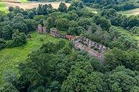 Zamek w Pokrzywnie - Zdjęcie lotnicze, fot. ZeroJeden, VII 2020