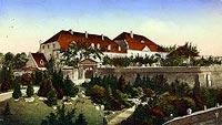 Zamek w Poznaniu - Wzgórze zamkowe na widokówce z 1918 roku