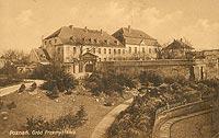 Zamek w Poznaniu - Zamek na pocztówce z 1914 roku