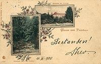 Zamek w Prószkowie - Zamek na pocztówce z 1900 roku