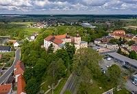 Zamek w Prószkowie - Zdjęcie z lotu ptaka, fot. ZeroJeden, V 2020