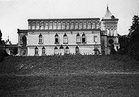 Dwór w Przecławiu - Dwór w Przecławiu na zdjęciu Romana Aftanazego z okresu międzywojennego