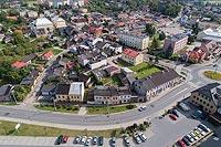 Przedbórz - Widok zamku z lotu ptaka, fot. ZeroJeden VIII 2018