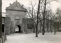 Zamek Kazimierzowski w Przemyślu - Brama zamkowa na zdjęciu sprzed 1939 roku
