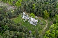 Strażnica w Przewodziszowicach - Widok z lotu ptaka, fot. ZeroJeden, V 2020