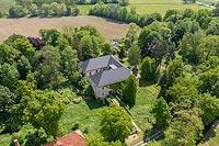 Zamek w Przewornie - Zdjęcie z lotu ptaka, fot. ZeroJeden, V 2020