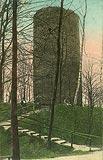 Zamek w Przewozie - Wieża zamkowa na widokówce z 1920 roku