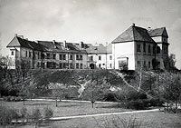 Zamek w Pułtusku - Zamek w Pułtusku na zdjęciu z lat 60. XX wieku