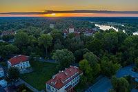 Zamek w Pułtusku - Zdjęcie z lotu ptaka, fot. ZeroJeden, VI 2020