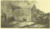 Zamek w Barcianach - Północne skrzydło zamku na rysunku Andersona z 1856 roku
