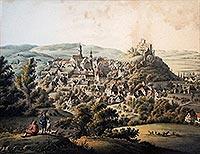 Zamek w Bolkowie - Bolków na Litografii Carla Theodora Mattisa z 1837 roku