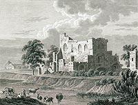 Zamek w Borysławicach - Litografia nieznanego autora, Zamek w Borysławicach, Przyjaciel Ludu 1843