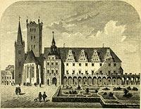 Zamek w Brzegu - Zamek w Brzegu na drzeworycie z około 1880 roku