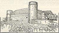Zamek w Bytowie - Zamek w Bytowie na rysunku z przełomu XIX i XX wieku