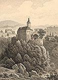 Zamek Czocha - Zamek Czocha na rysunku Arthura Blaschnika z 1868 roku