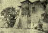 Zamek w Dębnie - Andrzej Oleś, akwarela, 1921