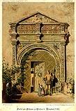Zamek w Goli Dzierżoniowskiej - Portal dworu w Goli na rysunku z 1870 roku
