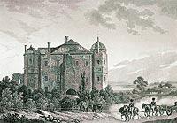 Zamek w Gołuchowie - Widok zamku z 1 połowy XIX wieku, 'Przyjaciel Ludu' 1843 nr 1