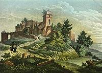 Zamek Grodziec - Zamek Grodziec na stalorycie J.Hausheera z około 1840 roku