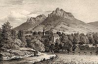Zamek w Karpnikach - Litografia z XIX wieku  [<a href=/bibl_ksiazka.php?idksiazki=456&wielkosc_okna=d onclick='ksiazka(456);return false;'>źródło</a>]