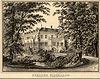 Zamek w Karpnikach - Zamek na litografii Ernsta Wilhelma Knippela z 1850 roku