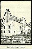 Zamek w Lęborku - Zamek w Lęborku na rysunku z 1899 roku