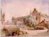 Zamek w Malborku - Zamek Średni od północnego-zachodu, akwarela J.K.Schultza z 1850 roku ze zbiorów Muzeum Zamkowego w Malborku  [<a href=/bibl_ksiazka.php?idksiazki=211&wielkosc_okna=d onclick='ksiazka(211);return false;'>źródło</a>]