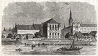 Zamek w Malborku - Zamek malborski na grafice z okresu międzywojennego