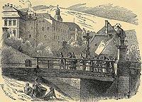 Zamek w Nowej Rudzie - Drzeworyt Klitzscha & Rochlitzera według Theodor Blätterbauer, Schloss zu Neurode, Franz Schroller Schlesien t.1 1885