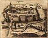 Zamek w Pasymiu - Pasym na sztychu Christopha Joannesa Hartknocha z XVII wieku