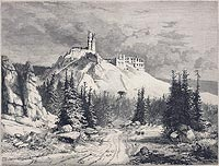 Zamek w Rabsztynie - Drzeworyt według rysunku Feliksa Brzozowskiego, Tygodnik Illustrowany 1879