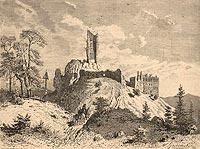 Zamek w Rabsztynie - Drzeworyt W.Gościmskiego, Tygodnik Powszechny 2, 1884