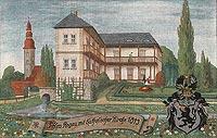 Zamek w Rogowie Sobóckim - Zamek w Rogowie w 1813 roku