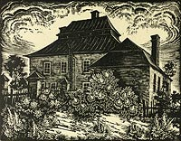 Dwór w Skoczowie - Dwór w Skoczowie na rysunku Pawła Stellera z 1934 roku