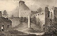 Zamek Chojnik w Sobieszowie - Zamek Chojnik na litografii Eduarda Pietzscha, Borussia 1838