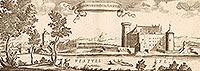 Zamek w Świeciu - Zamek na sztychu Erika Dahlbergha z dzieła Samuela Pufendorfa 'De rebus a Carolo Gustavo gestis', 1656 rok