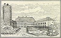 Zamek w Swobnicy - Zamek w Swobnicy na rysunku z przełomu XIX i XX wieku