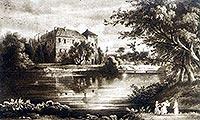 Zamek w Szydłowcu - Rysunek z widokówki z 1930 roku