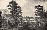 Zamek w Tarnowie - Widok zamku na rycinie C.B.Schwarza z początku XIX wieku  [<a href=/bibl_ksiazka.php?idksiazki=1033&wielkosc_okna=d onclick='ksiazka(1033);return false;'>źródło</a>]
